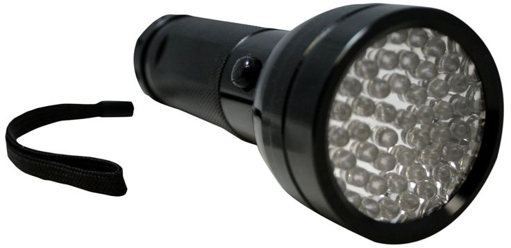 BlueDot Trading 51-LED UV Light Flashlight, Black. Detecting Head and Body Lice Eggs (Nits and Eggs reflect ultraviolet light). Fluoresces Gems, Minerals and Fossils. Detecting Bed Bugs. HVAC / AC LEAK DETECTOR. Light in the 390 to 395 nanometer wavelength. HVAC/AC LEAK DETECTOR.