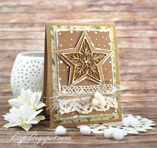 Klaudia/Kszp: Płaskie kartki świąteczne / Flat Christmas cards