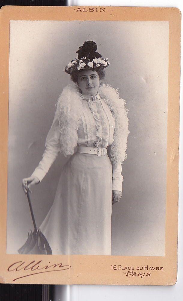 OLD Cabinet Photo Opera Singer Aino Ackte Russia Finland 1890s by Albin Paris  | eBay