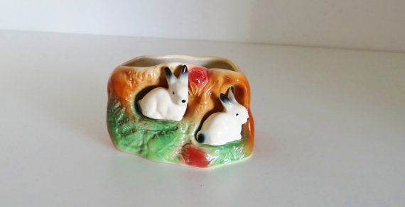 Rabbit planter Etsy listing at https://www.etsy.com/uk/listing/221987016/vintage-vase-rabbit-burrow-planter-by