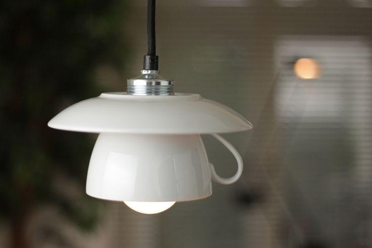 Hängelampe / Tassenlampe -Kabelfarbe nach Wunsch von Der Lampenladen auf DaWanda.com