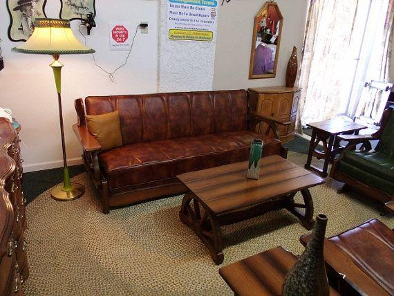 Six piece Solid Oak  Wagon Wheel  Western Furniture by LkcDesign, $4995.00