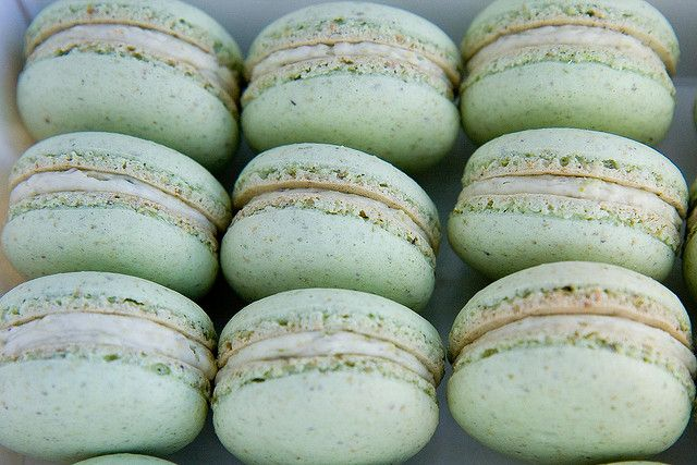 Pistachio Macaroons by sfophoto, via Flickr