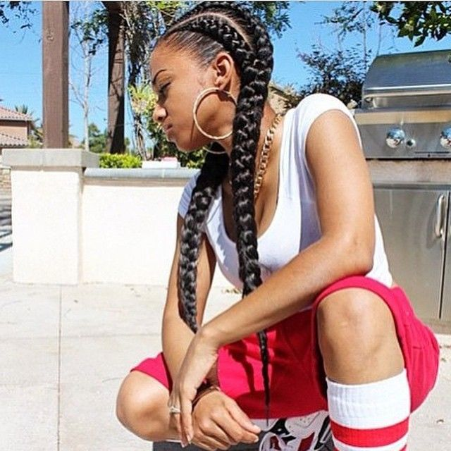 STYLIST FEATURE  Love these jumbo #goddessbraids done by #LongBeachStylist @CreativexHands on @bboliverparker❤️ So neat and classy #VoiceOfHair ========================= Go to VoiceOfHair.com ========================= Find hairstyles and hair tips! =========================