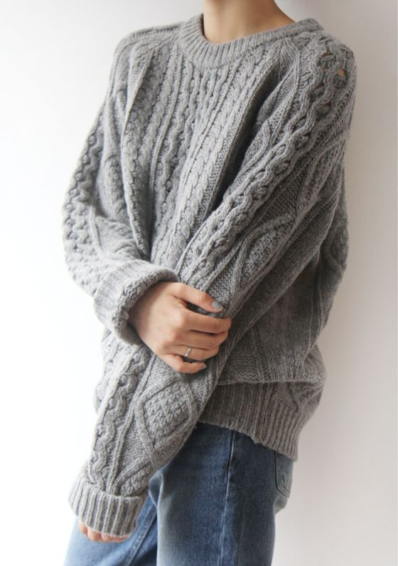 cozy cableknit sweater #style #fashion