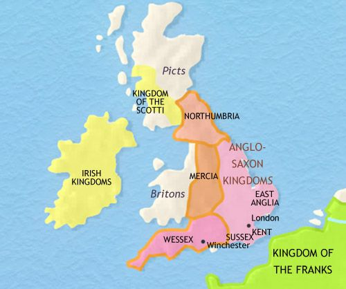 Map Of England 793 Ad.Map Of England 750 Ad