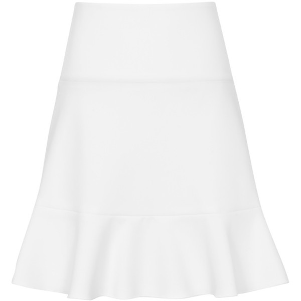 Reiss Fit and Frill Skirt , White ($145) ❤ liked on Polyvore