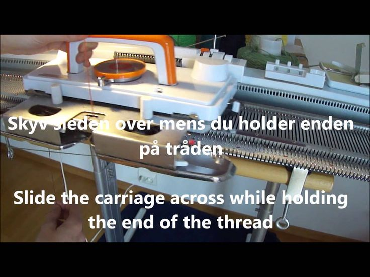 Beskrivelse på hvordan du kan legge opp på strikkemaskin. Instructions on how to cast on on your knitting machine. Besøk gjerne bloggen min / Visit my blog h...
