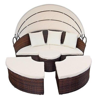 Charmant Sun Lounger Set Day Bed Patio Garden Outdoor Furniture Table Chair Rattan  Wicker