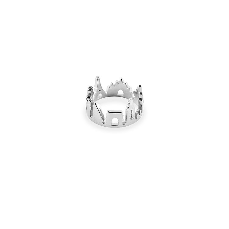 World Ring with Fashion Capitals Skyline  Milan - Paris - New York  - London  Silver 925 with antitarnish treatment  Price: 210€ 100%Made In Italy  Available here http://www.preziosajewelry.com/shop-preziosa/en/