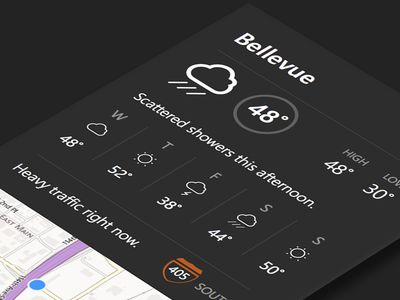 Dribbble - Weather & traffic by Jordan Young