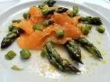 Insalata di asparagi e salmone