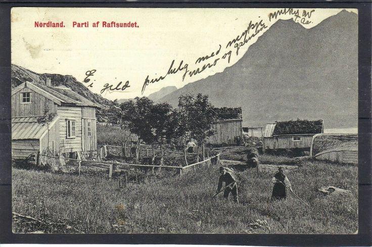Nordland fylke Hadsel kommune parti af Raftsundet. Utg M.M.Lohne Kristiansand tidlig 1900-tall