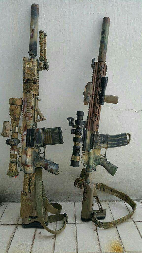 Rifles to make you feel like a Navy Seal ;) Camo AR15