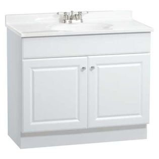 """RSI HOME PRODUCTS - White 36"""" Vanity Combo - Features:"""
