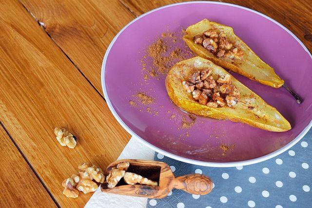 ❤️ Gebakken peren gevuld met walnoten uit de Airfryer