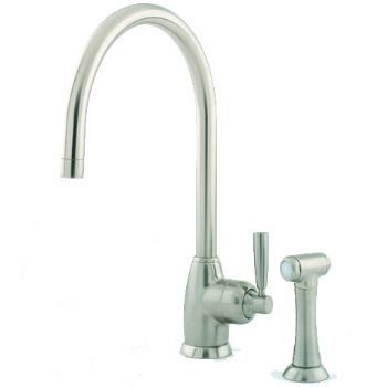Perrin & Rowe Mimas - C Spout 4846 (with Rinse) Kitchen Tap