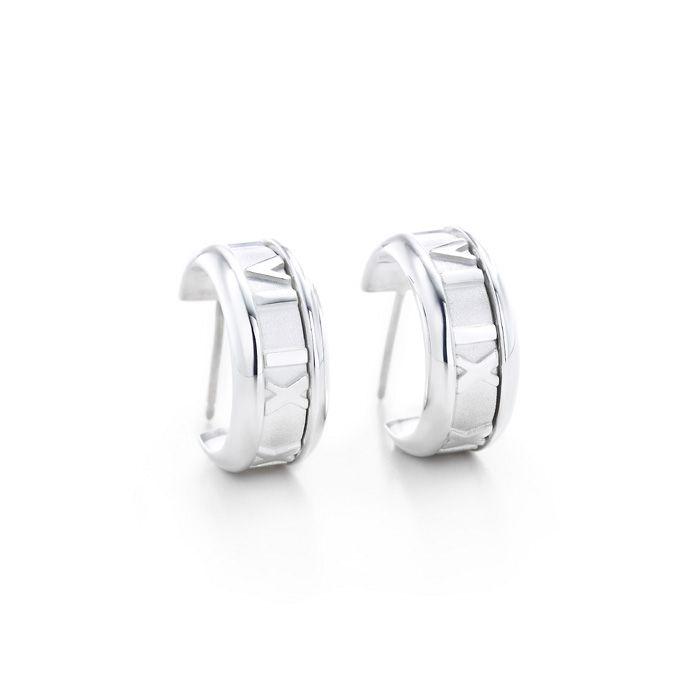Tiffany & Co Outlet Atlas Hoop Earrings