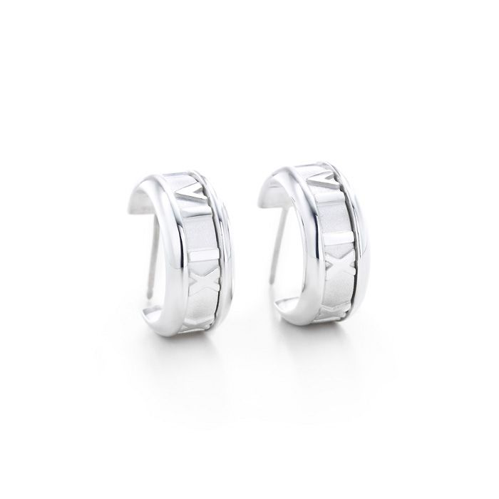 Tiffany & Co Outlet Atlas Hoop Earrings