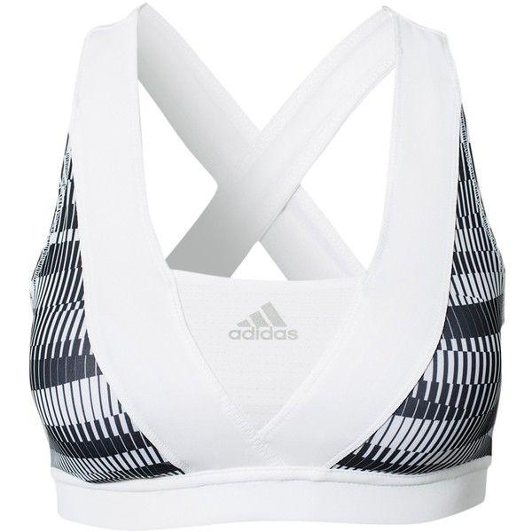 Adidas Performance Supernova Racer Bra ($38) ❤ liked on Polyvore featuring activewear, sports bras, underwear, sport, sports bra, tops, sports fashion, white, womens-fashion and white sports bra