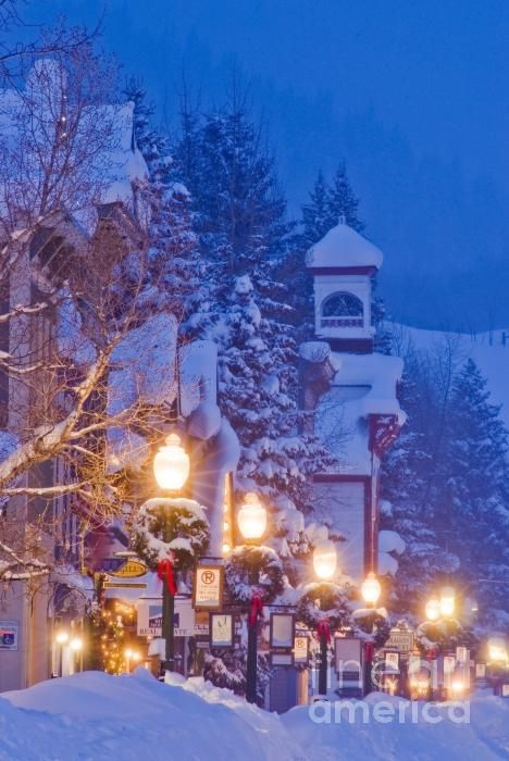 Christmas Streetlights, Crested Butte, Colorado
