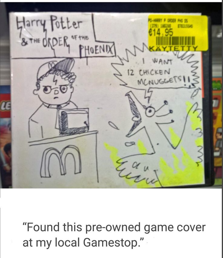 Harry Potter and the Order of Phoenix pre-owned game cover at GameStop. I wonder what this game is like??