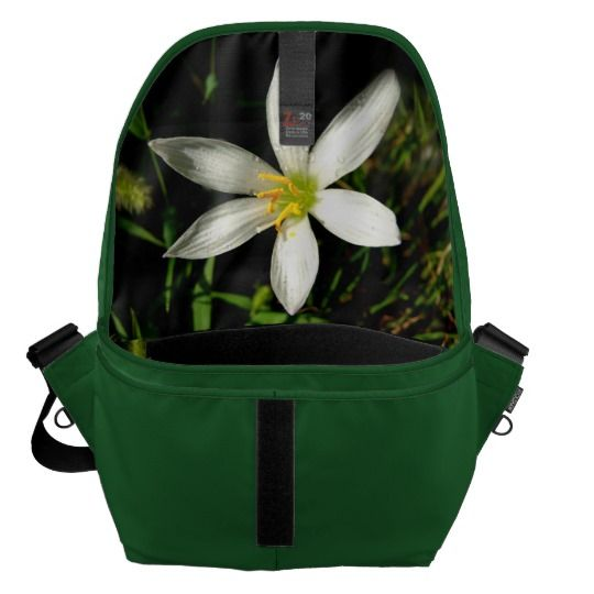 #zazzle #girl  #woman #gift  #giftidea  #Bag #White #Beauty #Green #Large #Messenger