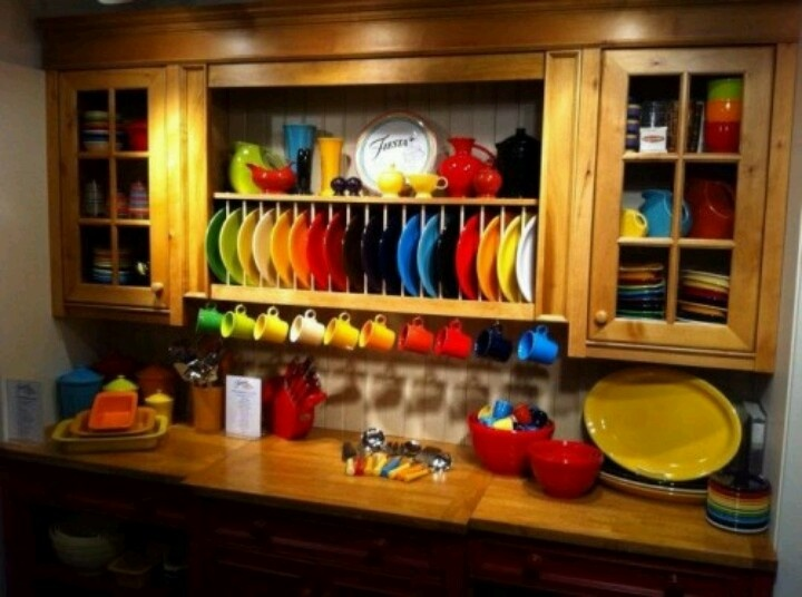 Charming Fiestaware Kitchen.