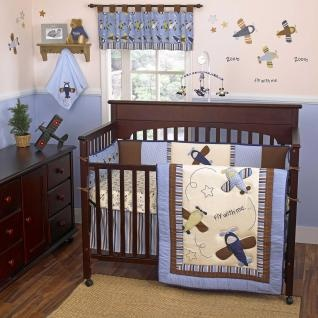30 best images about baby room ideas on pinterest nursery bedding arctic animals and changing - Airplane baby bedding sets ...
