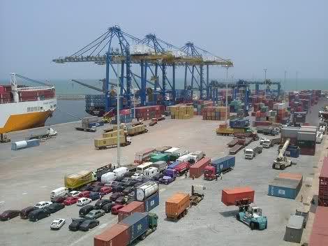 Freight Shipping Port of Tema, Ghana