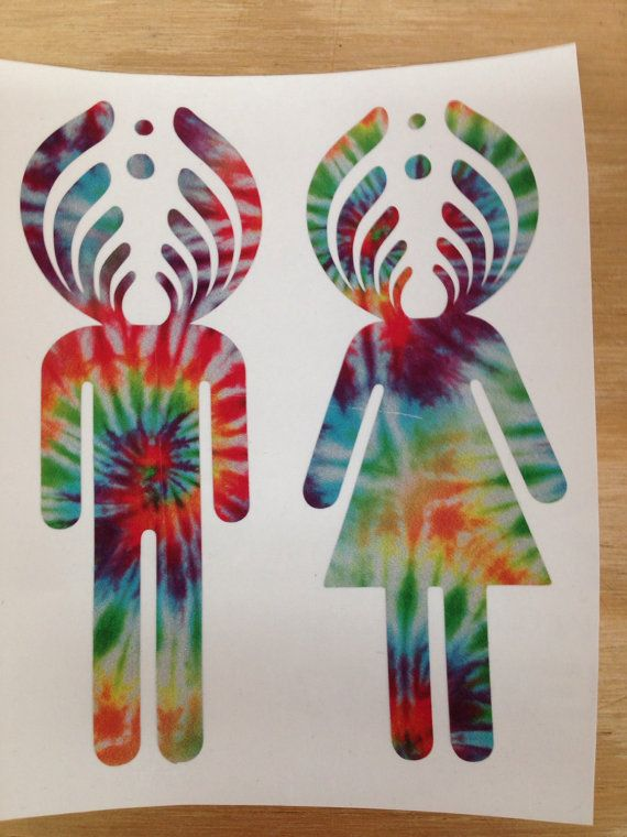 Bassnectar Basshead Girl and Guy Decal by CrijimadeDesigns on Etsy