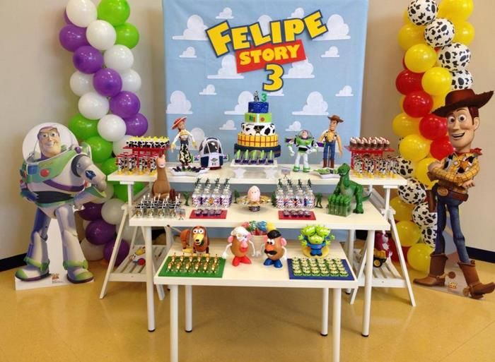 Toy Story Themed 3rd Birthday Party Full of Really Fun Ideas via Kara's Party Ideas | KarasPartyIdeas.com #ToyStoryParty #DisneyMovie #Party...
