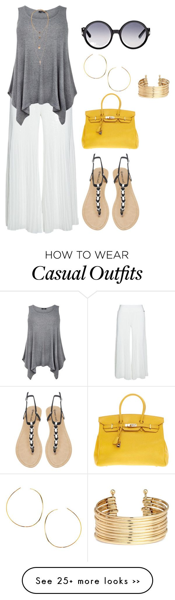 """""""plius size, summer casual day out"""" by kristie-payne on Polyvore featuring Mat, Tom Ford, Wet Seal, Hermès, H&M and Lana"""