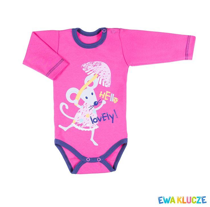 EWA KLUCZE, kolekcja MESSY PLAY, różowe body dla dziewczynki, wiosna-lato 2017, ubranka dla dzieci, EWA KLUCZE, MESSY PLAY collection, pink girl bodysuit, baby clothes