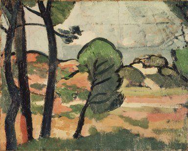 Landscape in Provence (Paysage de Provence) Artist: André Derain, French, 1880-1954 Medium: Oil on canvas