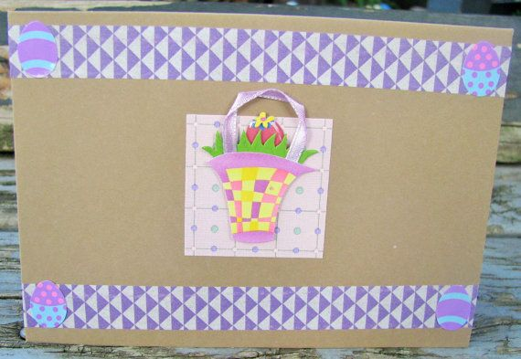 Easter Basket  handmade card FWB easter card by RogueKissedCraft
