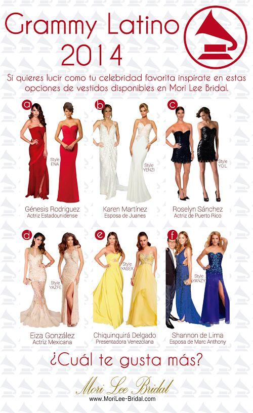 Este año pudimos ver a muchas estrellas latinas luciendo sus más increíbles atuendos en la alfombra verde en Los Latin Grammy 2014, si quieres lucir igual estas son algunas opciones que te pueden inspirar. Nuestros vestidos aparecen en la parte derecha de la Foto. #latingrammys2014   #latingrammy   #grammylatino   #grammyawards   #vestidosdefiesta   #tendencias2014   #vestidoscelebridades   #celebrities   #celebritystyle