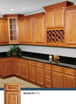 santa fe door style cabinets by kitchen cabinet kings at buy kitchen. Black Bedroom Furniture Sets. Home Design Ideas