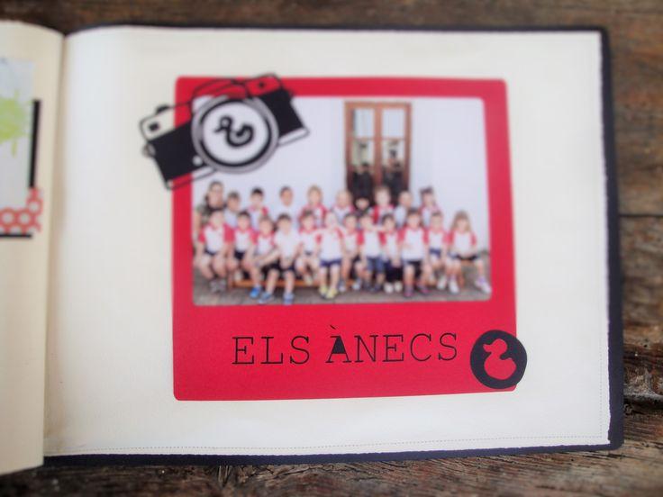 detall de l`album per fotos de classe