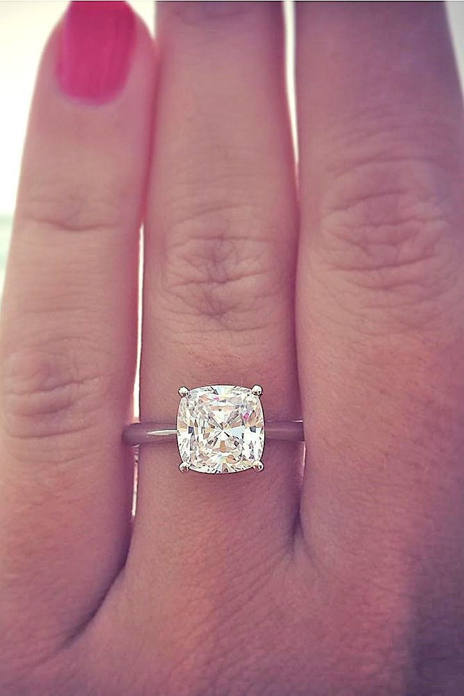 cushion cut diamond engagement rings 2