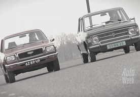 DOUBLE TEST - MAZDA 818 VS.FIAT 128. 70's cars.