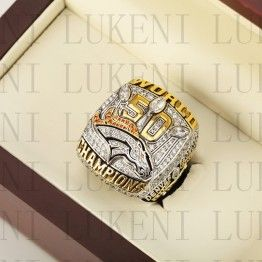 2015 Denver Broncos Super Bowl Championship Ring 10-13Size MILLER Fans Gift With High Quality Wooden Box