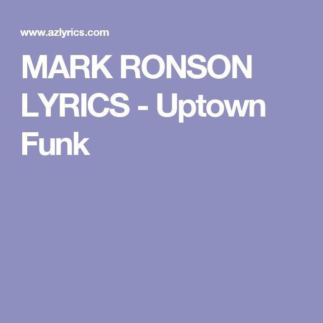 MARK RONSON LYRICS - Uptown Funk