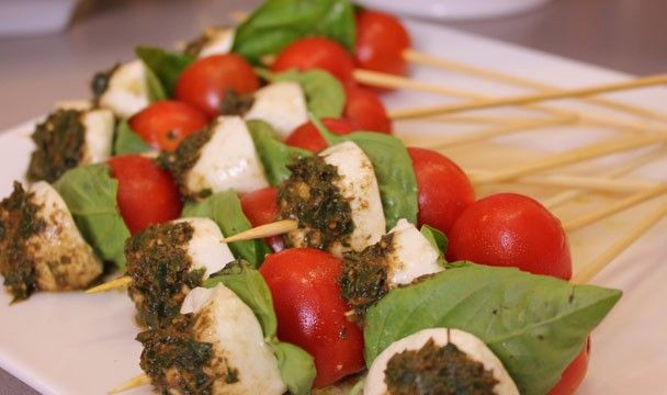 Caprese Sticks : Dinner Dash with Hilary Biller : The Home Channel