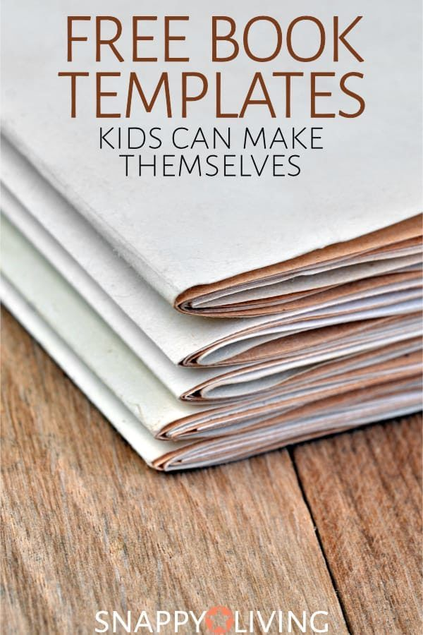 Bookmaking Can Be A Fun Craft For Kids These Simple Free Book Templates Are Easy Enough Some To Make Them Unsupervised Or With Just Little Help