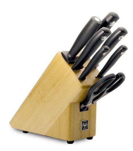 Wusthof Silverpoint 7 Piece Knife Set in Beech Block