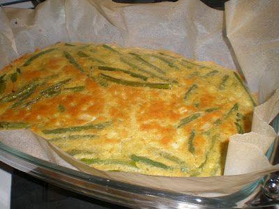 luckynori cuoca vegana: Frittata di ceci al forno con fagiolini