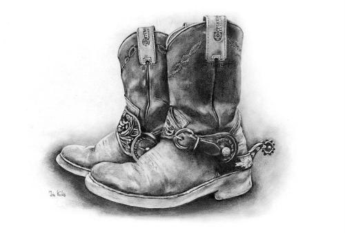 western sketches art | Boots - WetCanvas