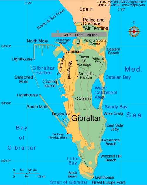 Best 25 Map Of Gibraltar Ideas On Pinterest Marbella Spain