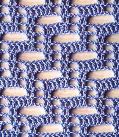 Bonita puntada para chales o bufandas frescas.